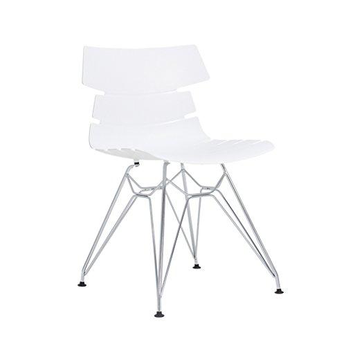 PLL Moderner einfacher zufälliger Mode-Stuhl-Rückseiten-Büro-Empfangs-Wohnzimmer-Konferenz-Computer-Stuhl (Color : White) - Konferenz-büro-stuhl