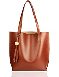 Mammon Women's Tote Handbag (plain-tan,35x35 Cm)