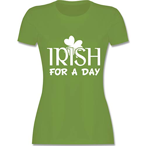 St. Patricks Day - Irish for A Day St Patricks Day - XL - Hellgrün - L191 - Damen Tshirt und Frauen T-Shirt (St Patrick's Day Kostüm Ideen)