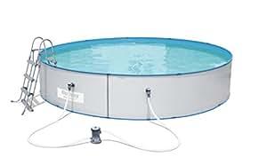 Bestway Hydrium Splasher Pool Set, rund, 14110 L, weiß, 460 x 90 cm