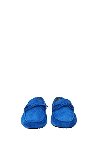 XXM0GW05470RE0U416 Tod's Mocassins Homme Chamois Bleu Bleu