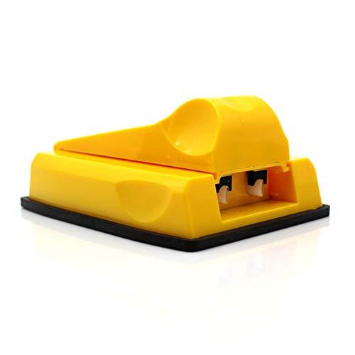 HJSS Manuelle Doppelröhre Mini-Zigaretten-Walzmaschine Tabakhersteller Selbst gemachter Heimgebrauch Einfach zu tragen,Yellow