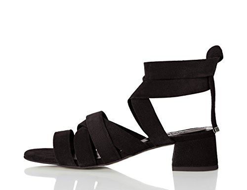 FIND Sandali con Tacco Donna Nero (Black)