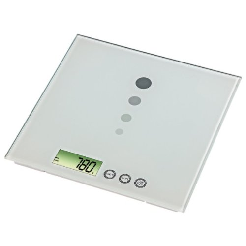 """Xavax digitale Küchenwaage \""""Mia\"""" mit Wiegefläche aus Sicherheitsglas"""