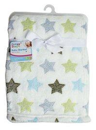 Douce couverture de luxe en polaire pour bébé 75x 100cm de «First Steps» pour les bébés à partir de la naissance avec bavoir pour nouveau-né inclus