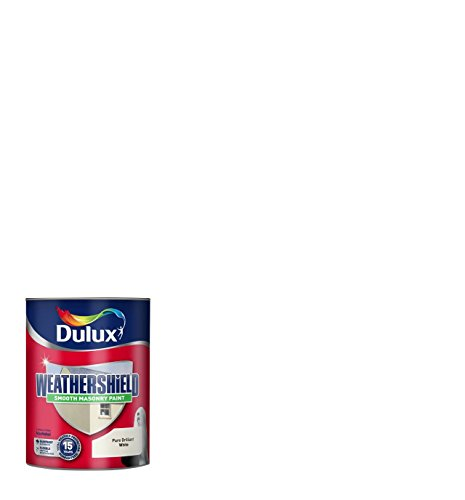 Price comparison product image Dulux Weather Shield Smooth Masonry Paint, 2.5 L - White