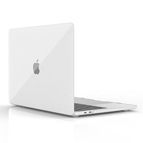 MoKo Hülle für MacBook Pro 13 2016 - Schlank Matte Harte PC Schale Schützhülle Case Cover Etui für das neue Apple MacBook Pro 13 Zoll A1706 / A1708 2017/ 2016, Translucent Schwarz