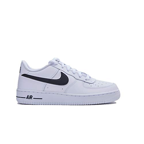 new product 6dae9 1bab7 Nike Air Force 1-3 (GS), Chaussures de Basketball Homme, Blanc