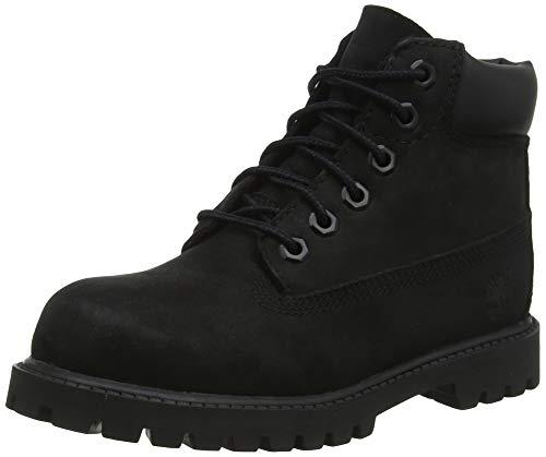 Timberland Unisex-Kinder 6 in Premium Waterproof Klassische Stiefel, Schwarz (Black Nubuck), 39 EU - 6 Größe Boots Timberland Jungen