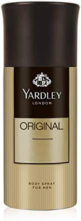 Yardley Original Body Spray For Men, Fresh fragrance for masculine elegance, 150 ml