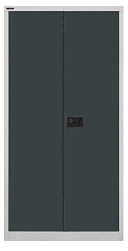 Bisley Armoire de Universel Porte, 3 étagères, 4 Oh, métal, 525 façades de Corps Gris Clair, Gris Anthracite, 40 x 91.4 x 180.6 cm