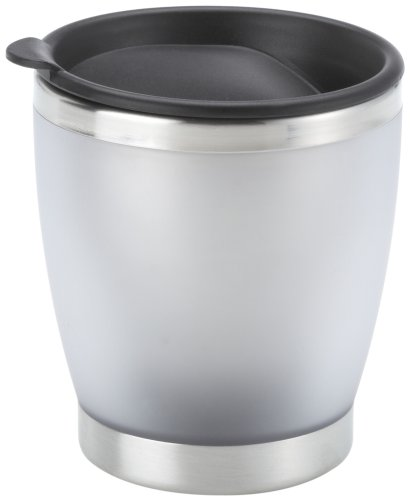Emsa 504840 Isolier-Trinkbecher, Mobil genießen, 180 ml, Transluzent, Silber, City Cup