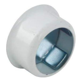 Round Wardrobe Rail Rod Socket End Support Bracket Rings White 25mm Heavy Duty x4