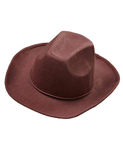 Horror-Shop Brauner Cowboyhut für Sie & Ihn als Western Kostümzubehör