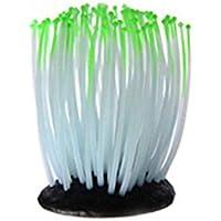 Lorjoy Luminosa mar Anémona de Silicona Que Brilla Peces Artificiales Tanque decoración del Ornamento del Acuario Decoración