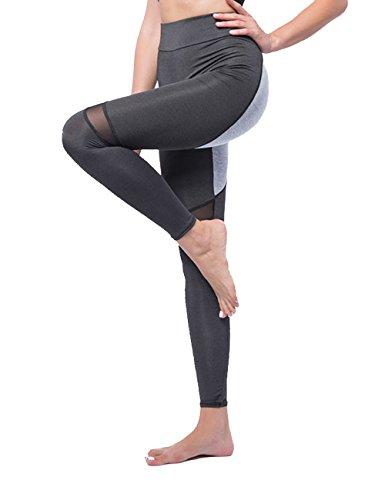 3b54bf6f2eac Yogahose Superes Modisches Patch-Design Atmungsaktive Fitness Leggings Hosen  Für Damen, Schwarz, Gr. L