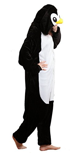 iKneu Unisexe Kigurumi Pyjamas Ensemble de Costume Cosplay Animaux Pyjamas pour Halloween Noel Pinguin