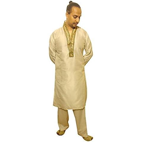 Uomo Indiano Pakistano Sherwani in seta grezza Mens Kurta salwar o Salwar Kameez bollywood festa matrimonio Londra 654