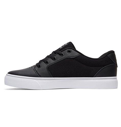 DC Skateboard Shoes ANVIL SE BLACK/BLACK/BLACK Black/White/Silver