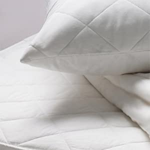 Linens Limited Polycotton Quilted Mattress Protector, Double