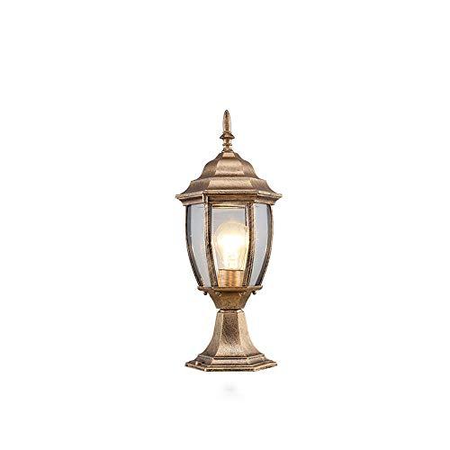 ♪ lampada da palo per esterni con illuminazione a led per esterni lampada da palo per esterni ip55 con lanterna a parete classica lampada da soffitto per esterni coloniale ip55 (colore: altezza bronzo
