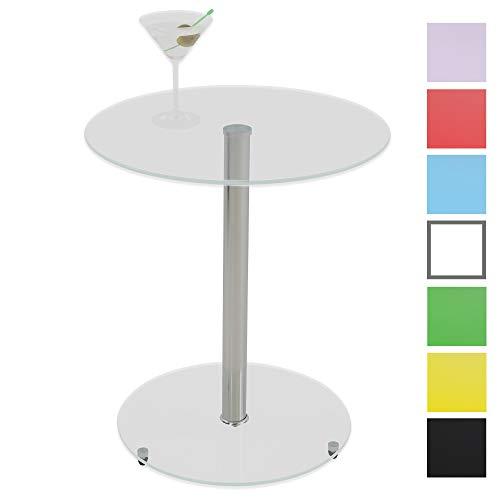 albatros Tavolo in Vetro Sunset, Transparente, Tavolino Rotondo, Altezza 50 cm, Tavolino da Cocktail/Bar