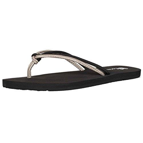 Tongs Femme Volcom Forever And Ever Noir Combo