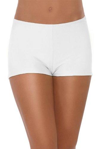 sexy Hot Pants kurz weiß Panty One Size (Nylon Höschen Kurze Weiße)