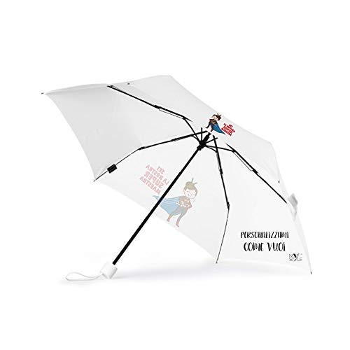 My custom style ombrello pieghevole personalizzato per regalo maestra insegnante