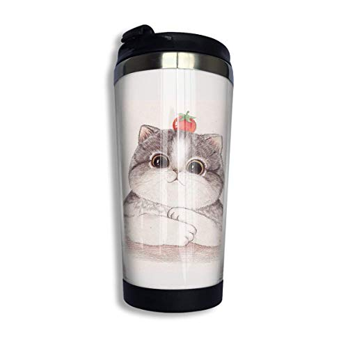 Coffee Thermos Cup Tomatoes Kitty Stainless Steel Travel Mug Cup Sports Water Bottle -