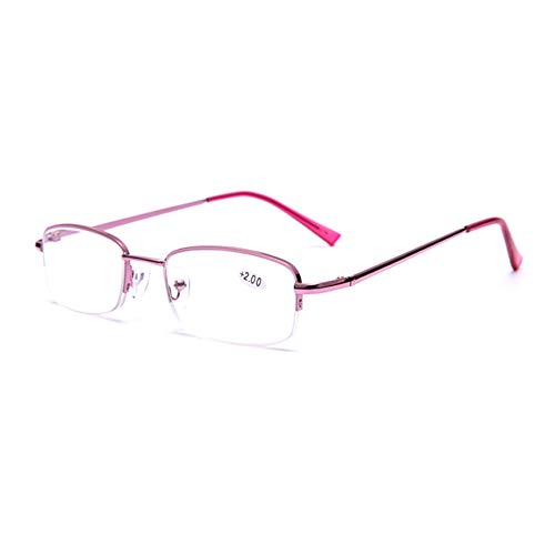 GEMSeven Elegante Frauen Lesebrille Harz Linsen Mode Halbbild Metall Presbyop Brillen