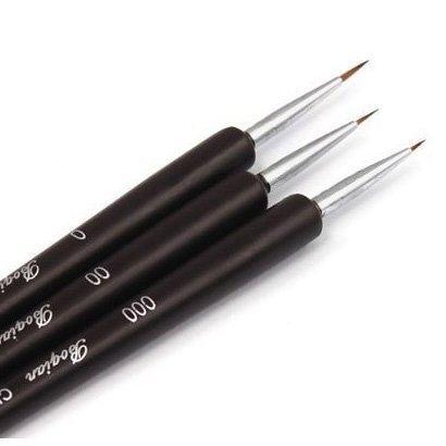 TOOGOO(R) Nagel Art Pinsel- Professionelle Sable Brush Pen, Detailer, Liner ** Set 3