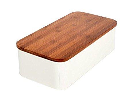 Brotkasten mit Schneidebrett aus Holz Beige-Gelb Elfenbein Brotbox