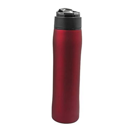 CAheadY 350 ml Outdoor Vacuum French Press caffettiera in acciaio inox filtro portatile da viaggio tazza rosso