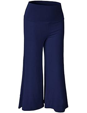 ZKOO Mujeres Casuales Piernas Pantalones Anchos De Las Mujeres Bailan Deportivos Yoga Pantalones
