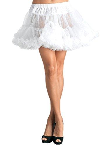 Karneval-Klamotten Petticoat Unterrock Tutu Tüll-Rock Damen weiß Luxus Damen-Kostüm Karneval Einheitsgröße