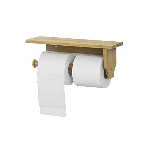 Mobiletto Porta Carta Igienica.Sobuy Porta Carta Igienica Da Bagno Con Supporto Portarotolo A Muro Da Bagno Bambu Frg253 N It