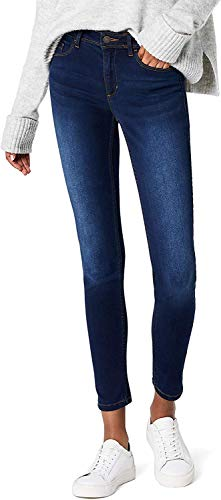 ONLY Damen Skinny Jeans 15077791/SKINNY SOFT ULTIMATE 201, Blau (Dark Blue Denim), Gr. XL/L32 (XL)