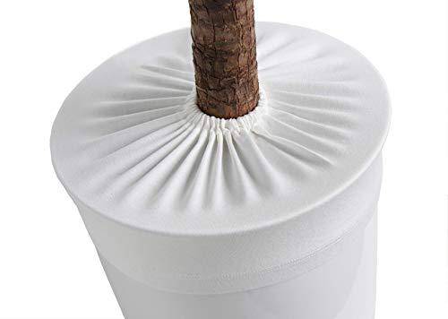 LYLANI Blumentopfschutz, innovatives Design, hochwertiger Stoff (Durchmesser: 41-43 cm, Wollweiß)