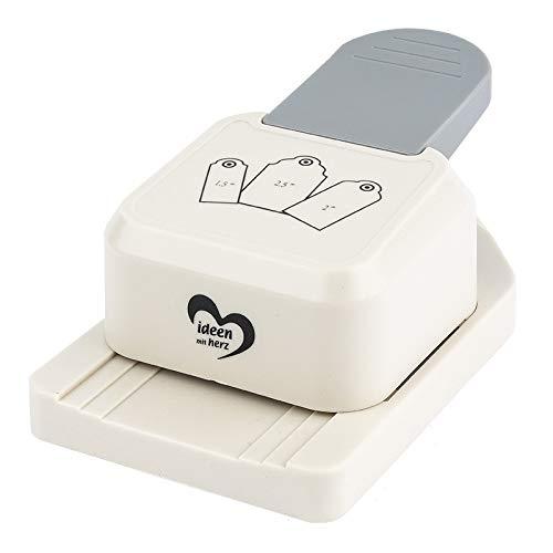 Ideen mit Herz Anhänger-Stanzer | Etiketten-Stanzer für 3 Verschiedene Größen | Motiv-Locher für Papier | Geschenkanhänger basteln (Geschenkanhänger)