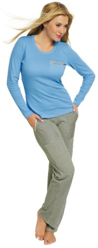 Italian Fashion IF Damen Pyjama Evita 0223 Blau