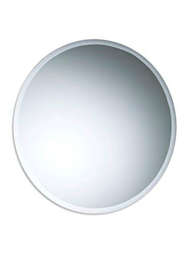 Precioso espejo redondo de baño, moderno y elegante, con bisel, para instalar en la pared 60cm x 60cm