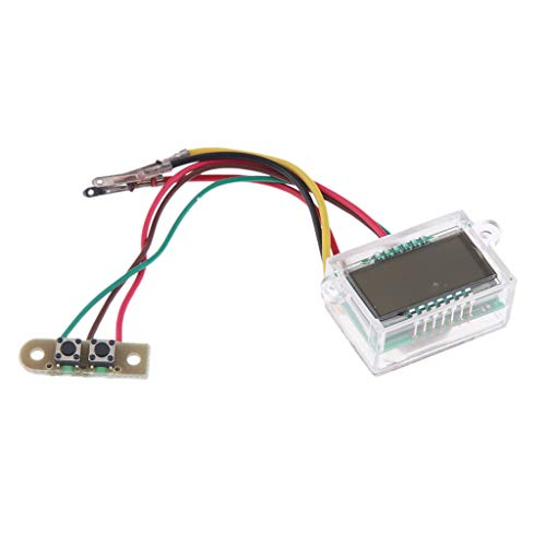 perfeclan LED Elektronische Wanduhr, Digitaluhr-elektronischer Uhr für Motorradhalterung Digitaluhr