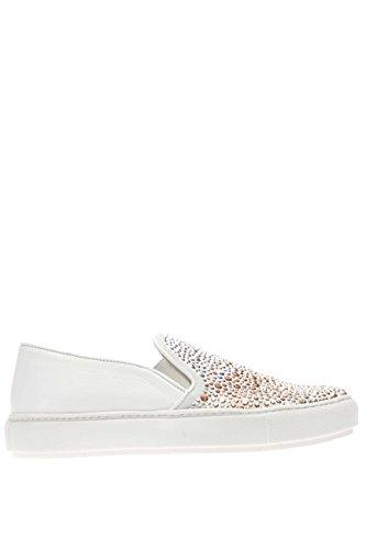 37728 BIANCO.Sneaker slip on.Bianco.40