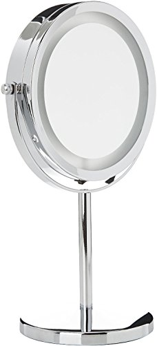 Medisana CM 840 Kosmetikspiegel mit LED Beleuchtung, normal und 5-fache Vergrößerung, 13 cm Durchmesser, 18 LEDs, verchromt - 2