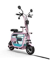 """LILIJIA Bicicleta Eléctrica Aleación Magnesio Ligera y Ajustable, Llantas Goma 10"""" 400W 25km / H Bicicletas Eléctricas para Adultos,para Ciclismo Deportivo Viajes Viaje"""