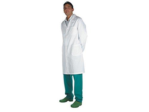 GiMa-Männer Weiß Lab, Doctor Professional Coat, Baumwolle/Polyester, Scrubs, M, weiß, 1 (White Doctor's Mantel Kostüm)