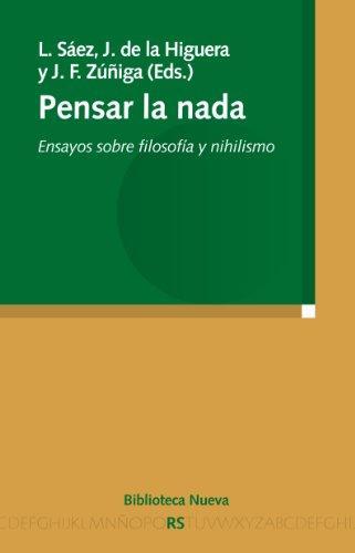 PENSAR LA NADA (Razón y Sociedad) por VV. AA.