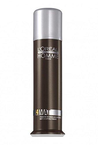 Loreal LP Homme Mat Modellierpaste 1 x 80 ml Styling Pomade mit Matt-Effekt
