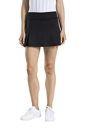 Prince Damen Stretch Knit Pleated Tennis Skort, Damen, schwarz, 1X Groß -